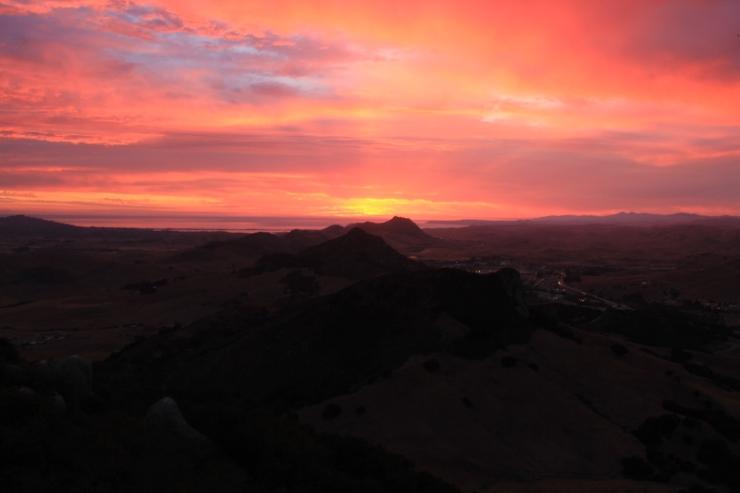 Sunset Bishop Peak